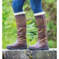 Shires Moretta Nella Ladies Zipped Country Boots- Brown