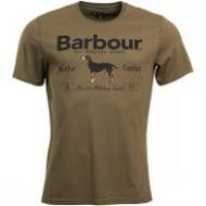 Barbour Mens T Shirt. Country - Mid Olive